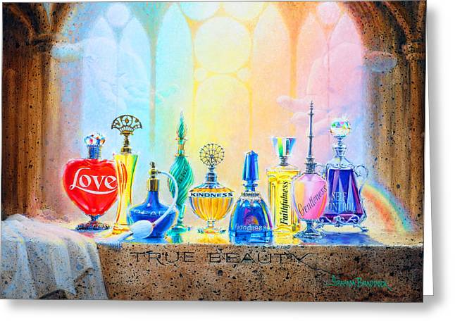 Religious Art Paintings Greeting Cards - True Beauty Greeting Card by Graham Braddock