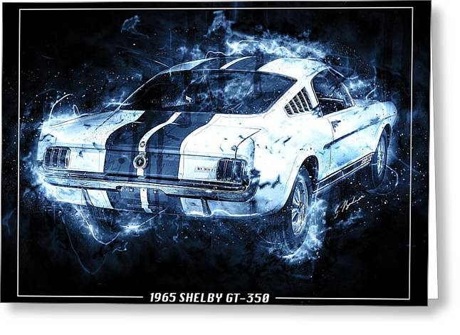 Fast Cars Greeting Cards - Blue Lightening Greeting Card by Gary Bodnar