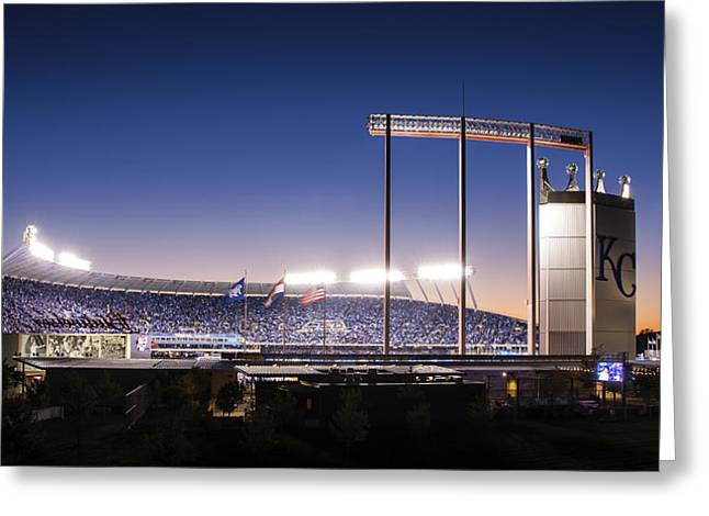 Baseball Framed Prints Greeting Cards - True Blue Greeting Card by Tracy Rollins