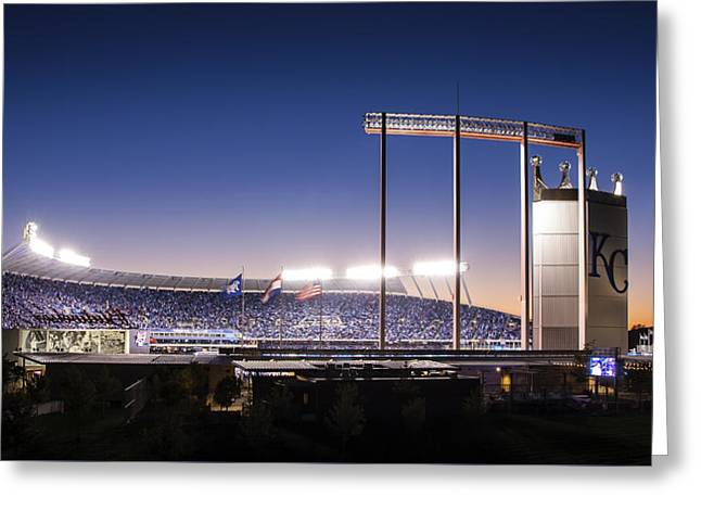 Baseball Stadiums Greeting Cards - True Blue Greeting Card by Tracy Rollins