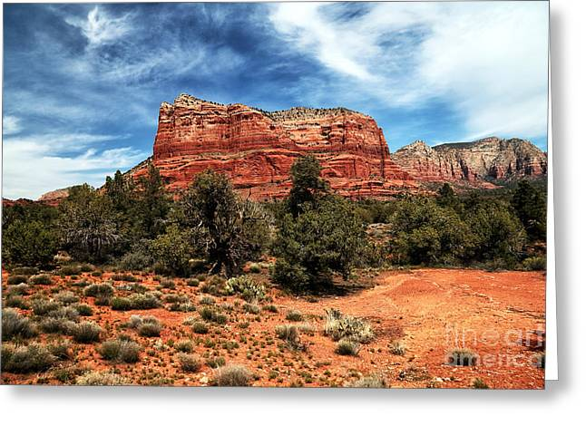 Sedona Mountains Greeting Cards - True Colors in Sedona Greeting Card by John Rizzuto