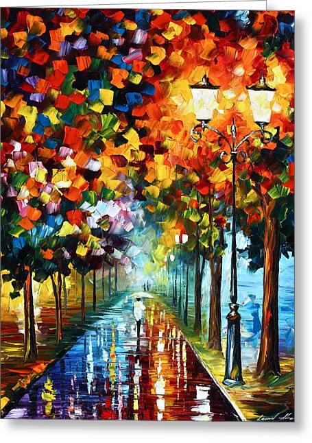Scenery Greeting Cards - True COlors Greeting Card by Leonid Afremov