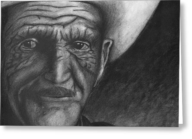 True Cowboy Greeting Card by Jay Alldredge