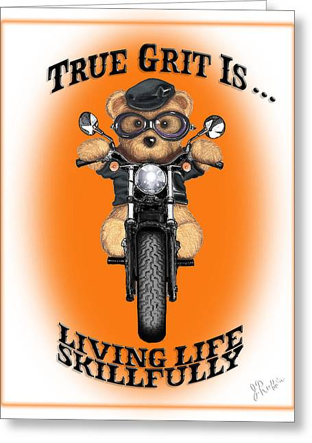 True Grit Greeting Card by Jerry Ruffin