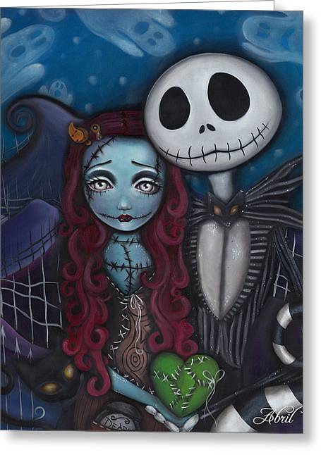 Gothic Art Greeting Cards - True Love  Greeting Card by  Abril Andrade Griffith