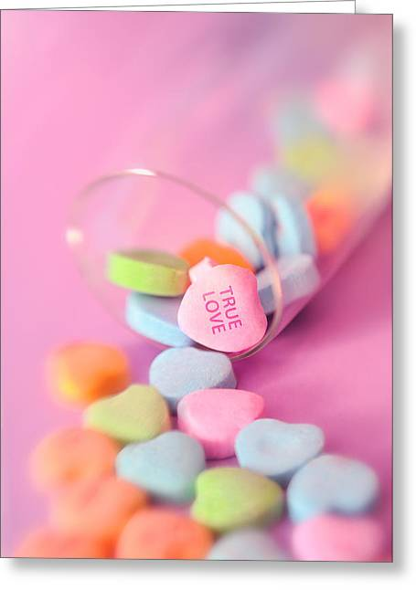 Valentine Pastels Greeting Cards - True Love Greeting Card by Marianne Campolongo