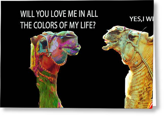 Animals Love Greeting Cards - True Love. Greeting Card by MS  Fineart Creations