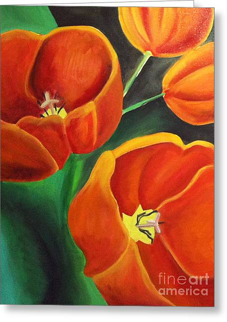 Floriography Greeting Cards - True Love Tulip Greeting Card by Heidi Prange