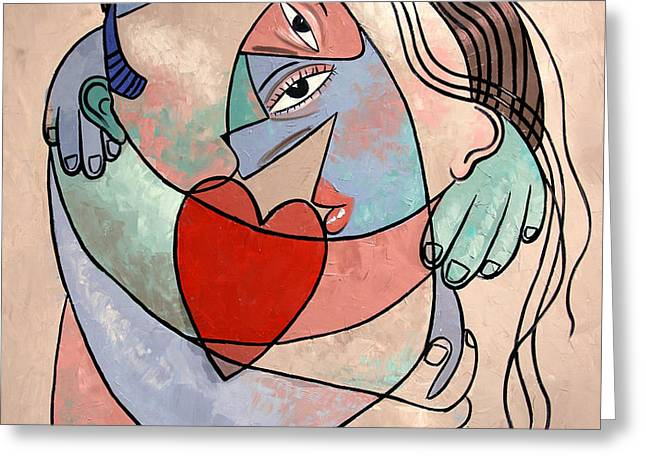 Famous Artist Greeting Cards - True Love When Two Become One Greeting Card by Anthony Falbo
