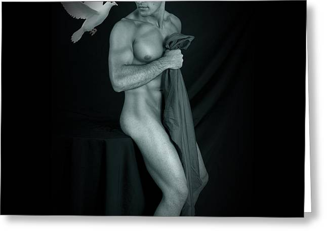 Hot Male Greeting Cards - Peace Sensation  Greeting Card by Mark Ashkenazi