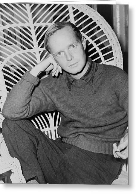 1950s Portraits Photographs Greeting Cards - Truman Capote 1959 Greeting Card by Mountain Dreams