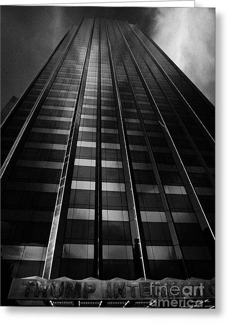 Manhaten Greeting Cards - Trump International Tower And Hotel Former Gulf Western One Central Park West New York City Greeting Card by Joe Fox