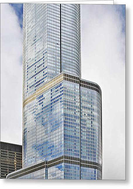 Glass Greeting Cards - Trump Tower Chicago - A surplus of superlatives Greeting Card by Christine Till