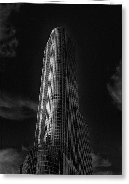Chicago Bulls Greeting Cards - Trump Tower Chicago Greeting Card by David Haskett