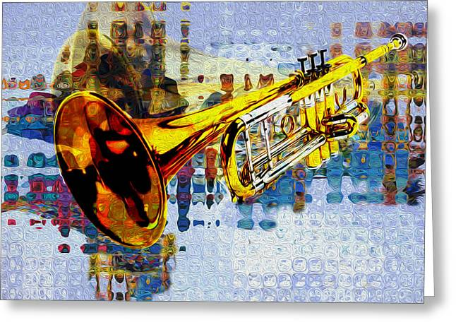 Player Greeting Cards - Trumpet Greeting Card by Jack Zulli