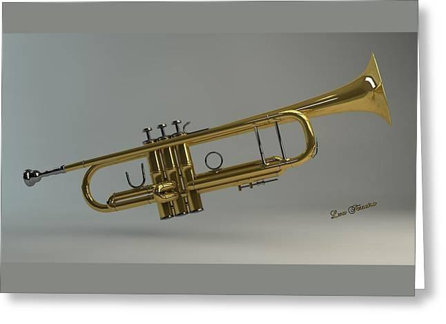 Louis Ferreira Art Greeting Cards - Trumpet Greeting Card by Louis Ferreira