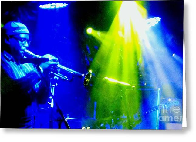 Chelsea Digital Art Greeting Cards - Trumpet Player Greeting Card by C  Lythgo