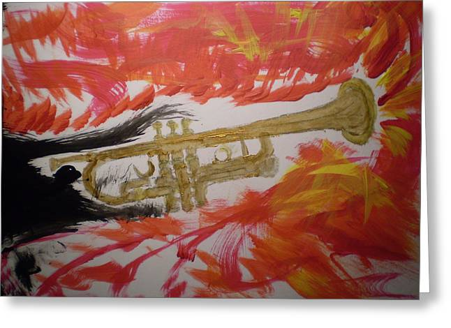 Rob Spencer Greeting Cards - Trumpeting Away Greeting Card by Rob Spencer