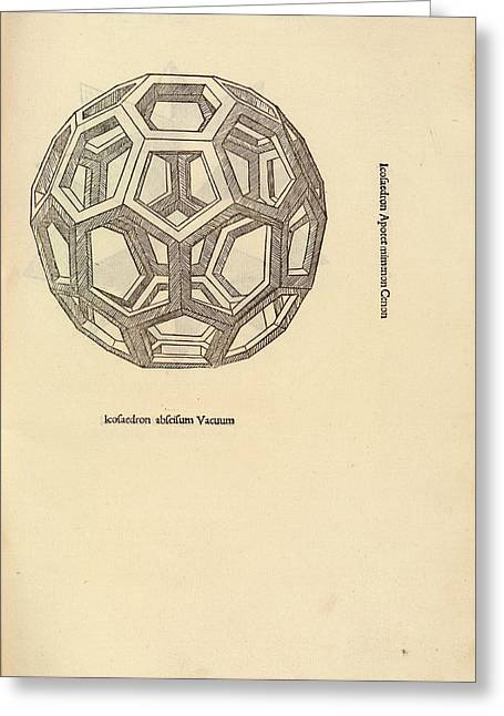Truncated Icosahedron Greeting Card by Library Of Congress