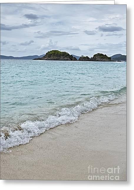 Virgin Pyrography Greeting Cards - Trunk Bay Beach Greeting Card by Eyzen M Kim