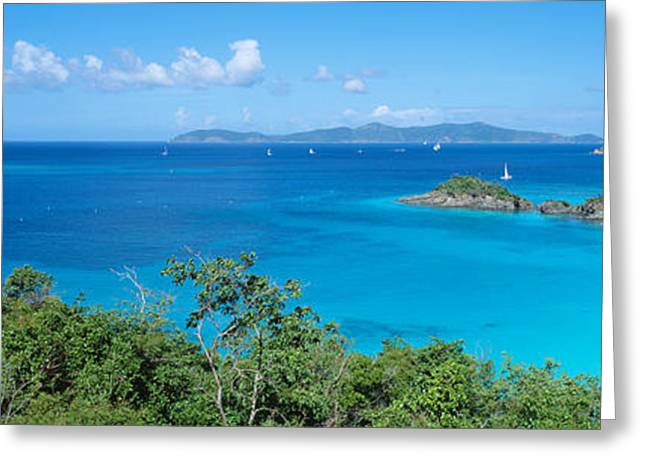 Colorful Photography Greeting Cards - Trunk Bay Virgin Islands National Park Greeting Card by Panoramic Images