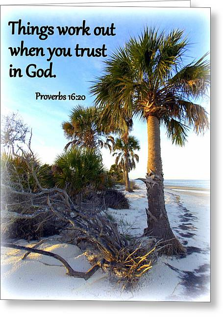 Cedar Key Greeting Cards - Trust in God Greeting Card by Sheri McLeroy