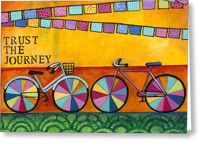 Carla Bank Greeting Cards - Trust the journey Greeting Card by Carla Bank