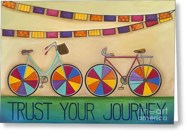 Carla Bank Greeting Cards - Trust Your Journey Greeting Card by Carla Bank