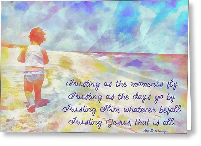 Trusting Greeting Card by Michelle Greene Wheeler