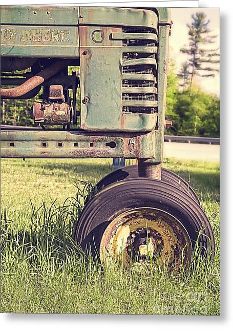 Quechee Greeting Cards - Trusty Old Workhorse Greeting Card by Edward Fielding