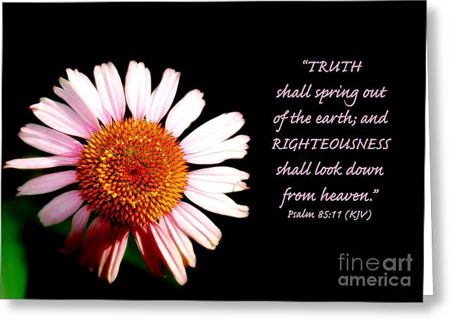King James Version Greeting Cards - Truth and Righteousness Greeting Card by Lincoln Rogers