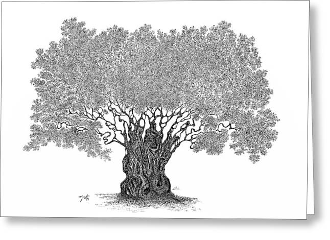 British Columbia Drawings Greeting Cards - Truth Greeting Card by Andrea Currie