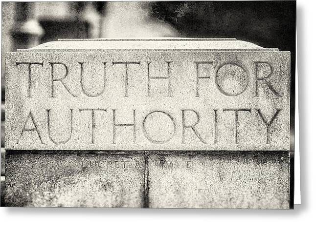 Quaker Greeting Cards - Truth for Authority Lucretia Mott  Greeting Card by Lisa Russo