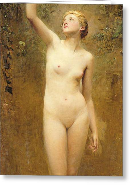 Shower Paintings Greeting Cards - Truth Greeting Card by George William Joy