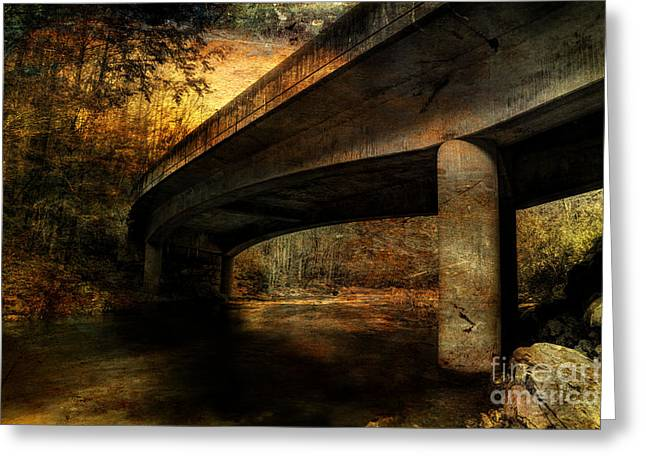 Concrete Bridge Greeting Cards - Truth In The Illusion Greeting Card by Michael Eingle