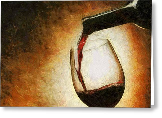 Wine Pour Greeting Cards - Truth into glass Greeting Card by Georgi Dimitrov