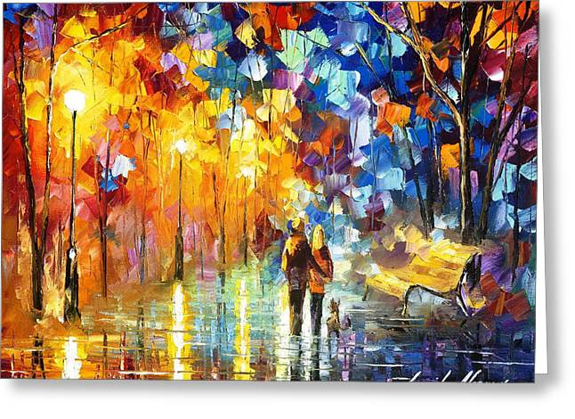 Recently Sold -  - Popular Art Greeting Cards - Truth Of Togetherness - PALETTE KNIFE Oil Painting On Canvas By Leonid Afremov Greeting Card by Leonid Afremov