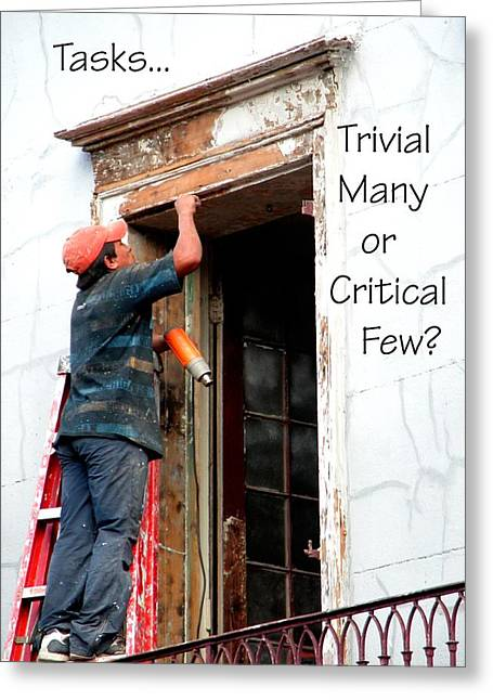 Critical Thought Greeting Cards - Trvial Many Or Critical Few 21159 Greeting Card by Jerry Sodorff