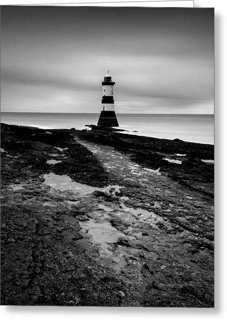 Puffins Greeting Cards - Trwyn Du Lighthouse 2 Greeting Card by Dave Bowman
