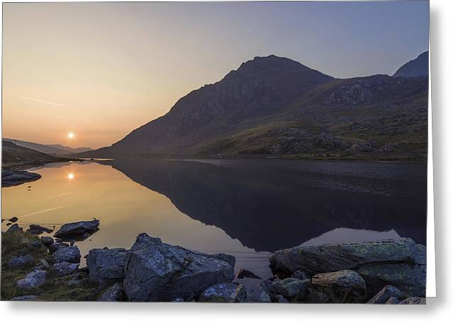 Wales Framed Prints Greeting Cards - Tryfan at Dawn Greeting Card by Ian Mitchell