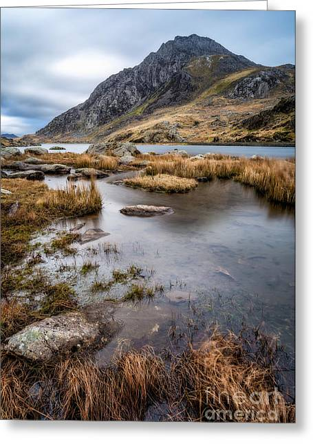 Clouds Photographs Digital Greeting Cards - Tryfan Mountain Greeting Card by Adrian Evans