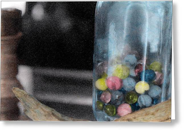 Marble Eye Greeting Cards - Trying to Keep My Marbles Greeting Card by Wayne King