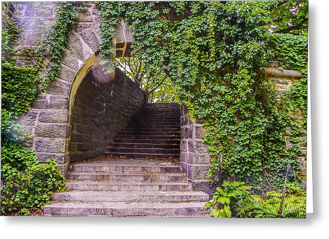 Tryon Park Arch Greeting Card by Jon Woodhams