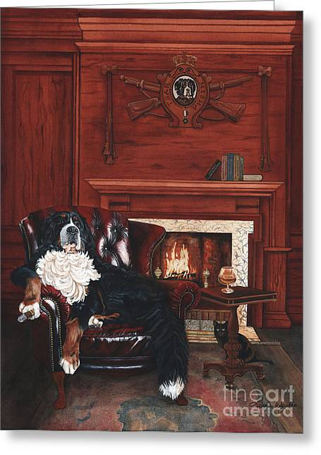 Berner Greeting Cards - Tsar Misha Greeting Card by Liane Weyers