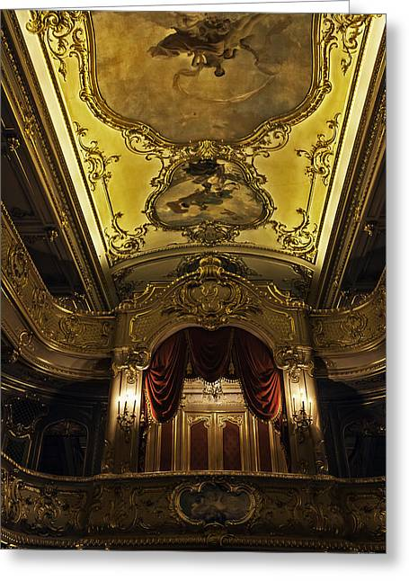 Tsar Alexander Greeting Cards - Tsars Box 1 - Mariinsky Theater - St. Petersburg - Russia Greeting Card by Madeline Ellis