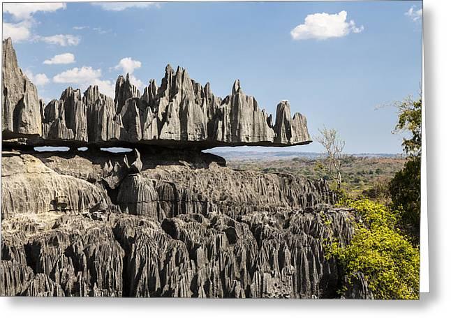 Madagascar National Park Greeting Cards - Tsingy De Bemaraha, Madagascar Greeting Card by Konrad Wothe