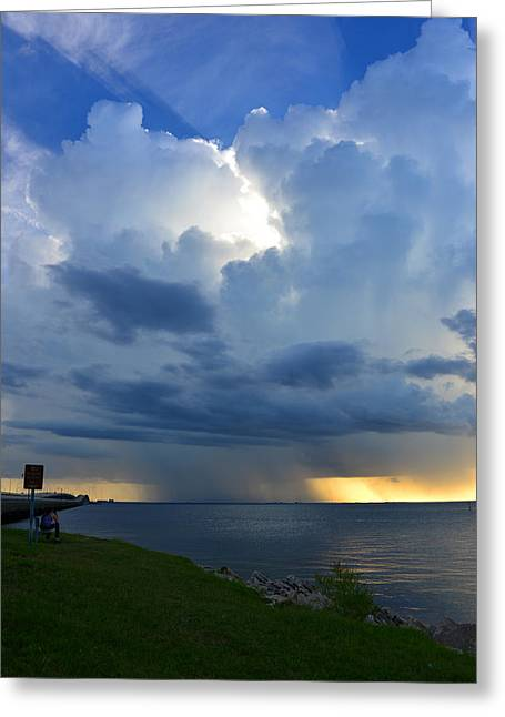 Florida Landscape Photography Greeting Cards - Classic Rain Storm Greeting Card by David Lee Thompson