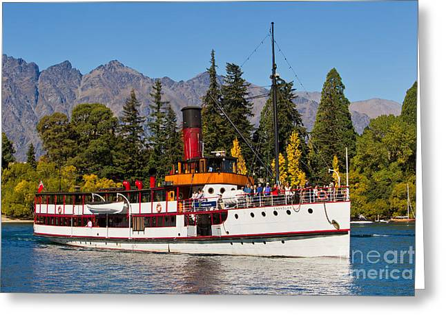 Steam Ship Greeting Cards - TSS Earnslaw Greeting Card by Bill  Robinson