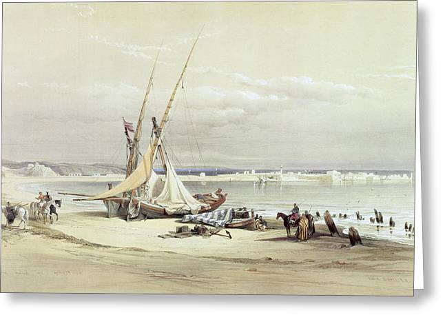 Beach Prints Drawings Greeting Cards - Tsur, Ancient Tyre, April 27th 1839 Greeting Card by David Roberts