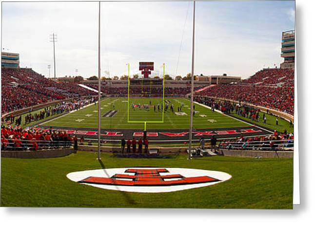 Recently Sold -  - Randy Greeting Cards - TT - New Jones Stadium EZ Panoramic Greeting Card by Randy Smith